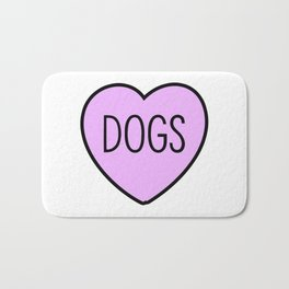 I Love Dogs Bath Mat