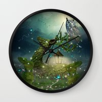 bebop Wall Clocks featuring Keeper of the Enchanted - Spring Thaw by soaring anchor designs