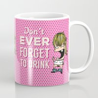 drunk Mugs featuring DRUNK GIRL by flydesign