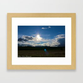 Sun after the storm Framed Art Print