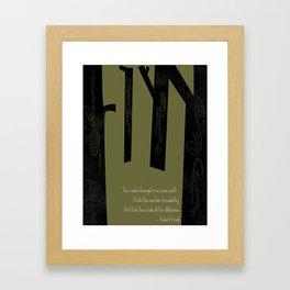 Robert Frost Road Not Taken  Framed Art Print