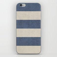vintage dark blue stripes iPhone & iPod Skin