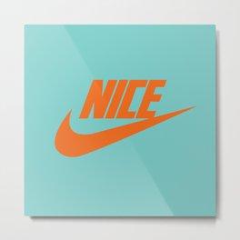 Nike Nice Metal Print