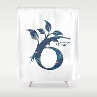 arabic Shower Curtains featuring S6 Arabic by Sumayyah Al Suwaidi