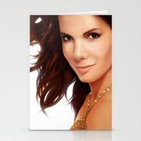 sandra dieckmann Stationery Cards featuring Sandra Bullock by RoPerez