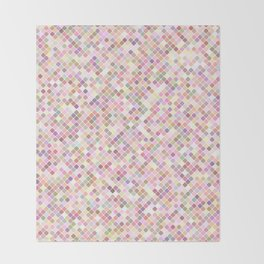 Happy Pastel Square Pattern Throw Blanket