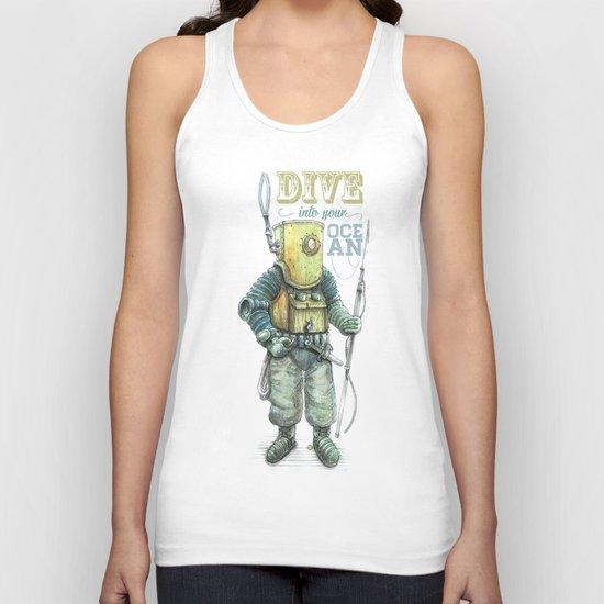 Diver Unisex Tank Top