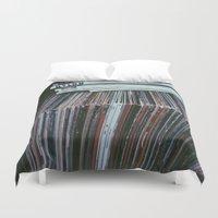 vinyl Duvet Covers featuring Vinyl by Rachel Brown