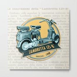 LAMBRETTA 125 B Metal Print