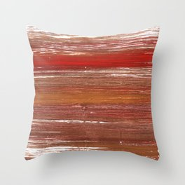 Chestnut abstract watercolor Throw Pillow