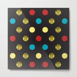Golden Dots Metal Print