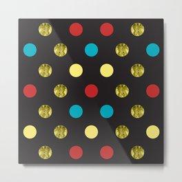 Golden Dots Metal Print