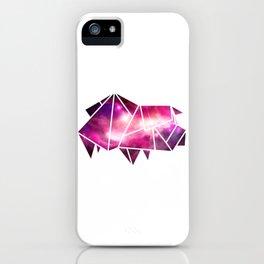 Geometric Pig   Low Poly Galaxy Farm Animal iPhone Case