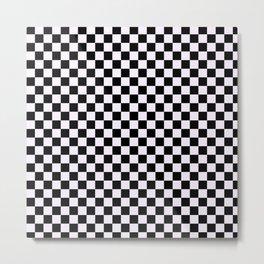 Checkers Checkerboard Pattern Metal Print