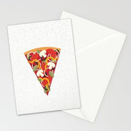 PIZZA POWER - VEGO VERSION Stationery Cards