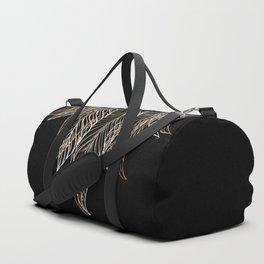 Elegant Feather Talisman with Bird Feathers Duffle Bag