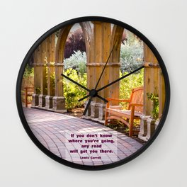 Any Road Will Get You There Wall Clock