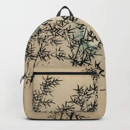 Bamboo Branches Traditional Japanese Flora Backpack