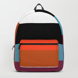 Random Multicolored Stripes Geometric Pattern Backpack