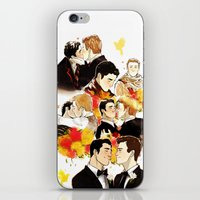 klaine iPhone & iPod Skins featuring klaine throughout the seasons by suitfer