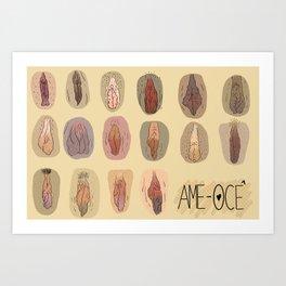 Vulvas Art Print