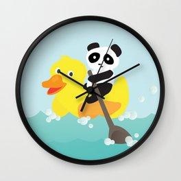 Row, row, row your duck Wall Clock