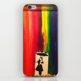 Raining colour  iPhone Skin
