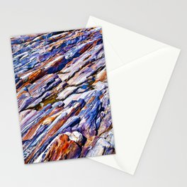 Rocky abstract Stationery Cards