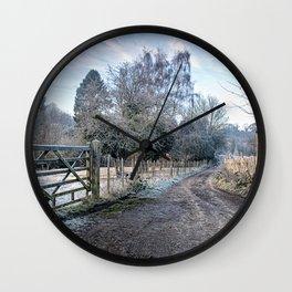 Frosty Lane Wall Clock