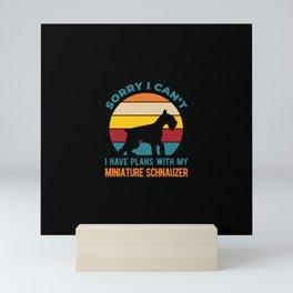 Miniature Schnauzer Funny Mini Art Print