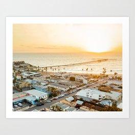 Ocean Beach Pier - San Diego Art Print