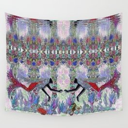 Mermaids in their Garden Wall Tapestry