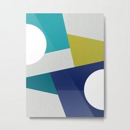 Minimal Coastal Geometry #abstractart Metal Print