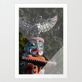 Geometric Totem Pole Art Print