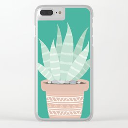 Cactus Suculents Plants Clear iPhone Case