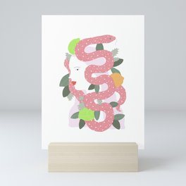 Lady of Snakes Mini Art Print