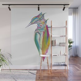 Kingfisher 1g. Full color on white background-(Red eyes series) Wall Mural