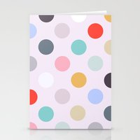 polka dots Stationery Cards featuring Polka Dots by Color & Theory