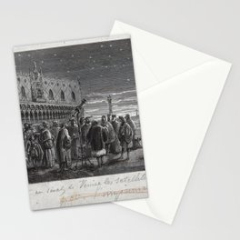Galileo with his telescope in the Piazza San Marco, Venice Stationery Cards