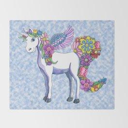Madeline the Magic Unicorn 2 Throw Blanket