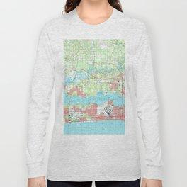 Biloxi Mississippi Map (1992) Long Sleeve T-shirt