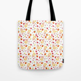 Floral Autumn Pattern Tote Bag