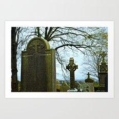 The Graveyard at Monasterboice Art Print