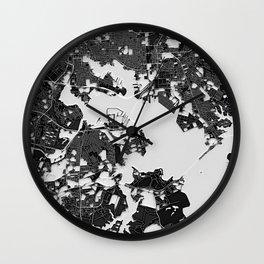 Baltimore – Abstract Map Wall Clock