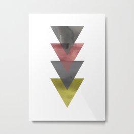 Scandinavian Colors Triangle Metal Print