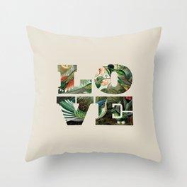 Love hummingbirds Throw Pillow