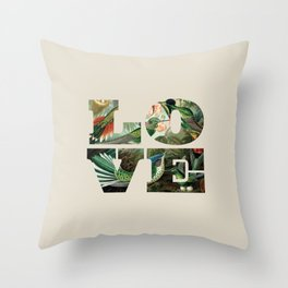 Love hummingbirds Throw Pillow