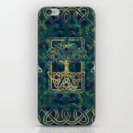 Tree of life - Yggdrasil with Triquetra  symbols iPhone Skin