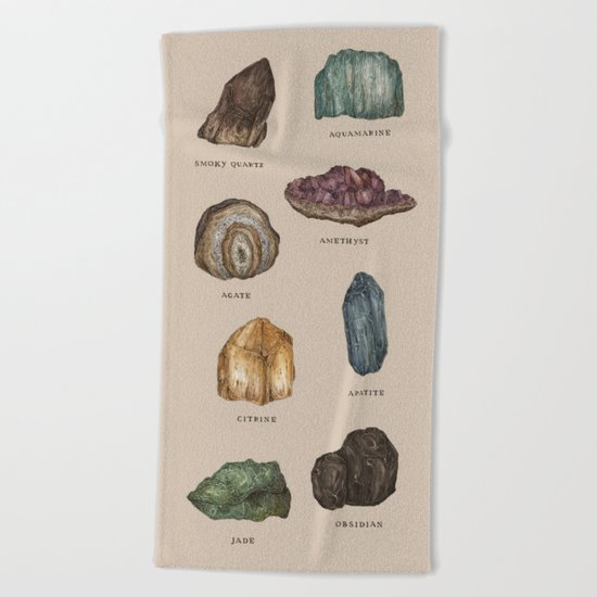 Gems and Minerals Beach Towel
