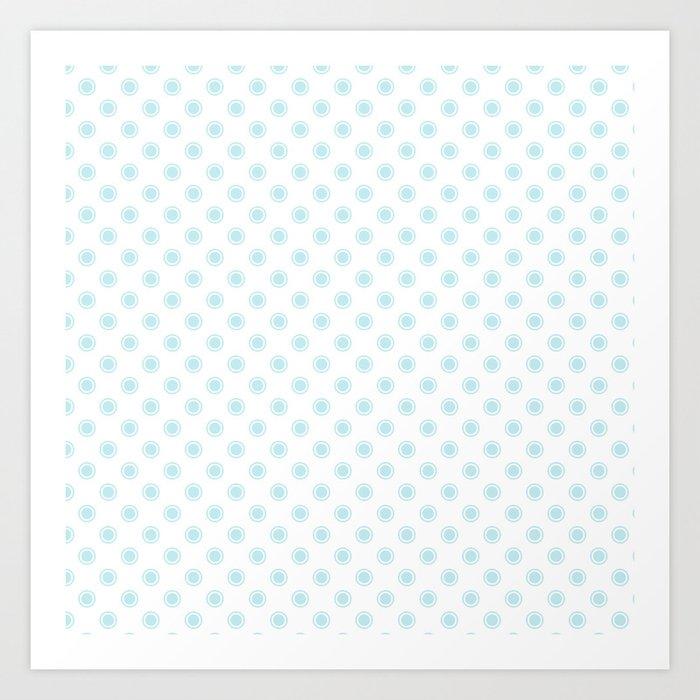 Aqua dots pattern Art Print